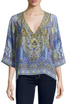 Camilla Embellished Crepe V-Neck Top, All A Dream