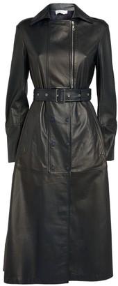 Sportmax Leather Fiordi Trench Coat