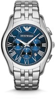 Emporio Armani Stainless Steel Blue Dial Watch, 44.5mm