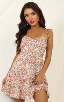 Showpo Forward Planning dress in orange floral - 6 (XS) The Floral
