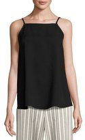 Lafayette 148 New York Taylor Sleeveless Double-Georgette Silk Blouse, Black