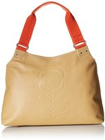 Orla Kiely Embossed Flower Leather Classic Zip Shoulder Bag