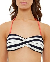 Ted Baker Striped Twist-Front Bandeau Bikini Top
