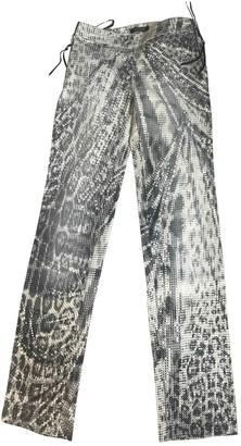 Roberto Cavalli Grey Cotton - elasthane Jeans for Women