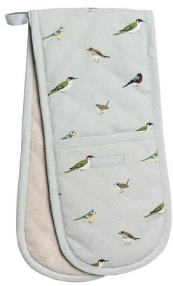 Sophie Allport - Garden Birds Double Oven Glove - White