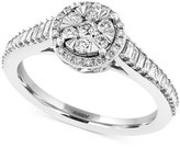 Effy Diamond Halo Engagement Ring (5/8 ct. t.w.) in 14k White Gold
