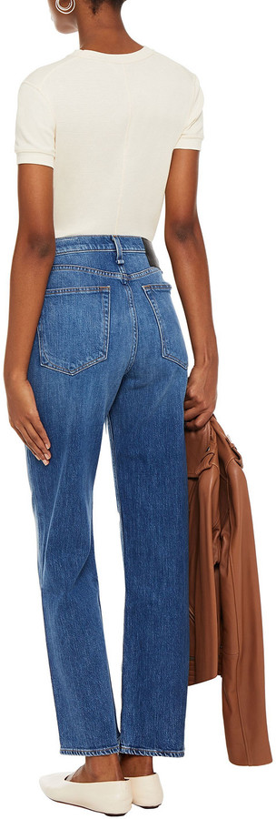 Thumbnail for your product : Rag & Bone Faded High-rise Straight-leg Jeans