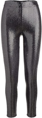 Rosetta Getty Sequin-Embellished Skinny-Fit Trousers