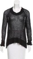 A.L.C. Mohair-Blend Open Knit Sweater