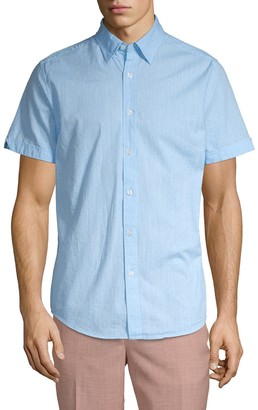 Ben Sherman Polka Dot Short-Sleeve Button-Down Shirt