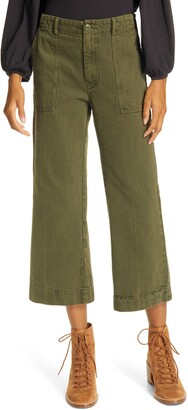 The Great The Rider High Waist Crop Flare Pants