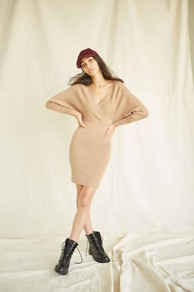 Forever 21 Surplice Mini Sweater Dress