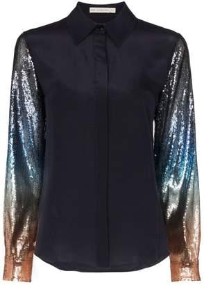Mary Katrantzou Shane sequin-sleeve blouse