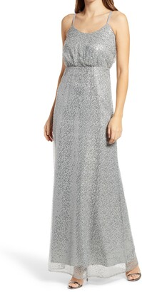 Chi Chi London Sequined Maxi Gown