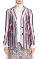 Burberry Women's Panama Stripe Cotton & Silk Pajama Blazer