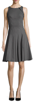 Zac Posen Solid Fit And Flare Dress