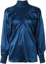Fendi puffed sleeve blouse