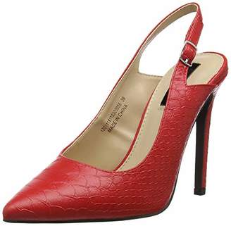 Lost Ink Women's CASS Slingback HIGH Heel Court Shoe Sling Back (Red 0055), 7 (40 EU)