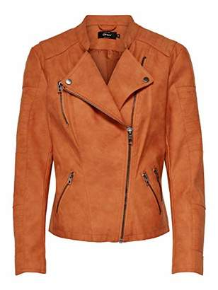 Only Women's onlAVA FAUX LEATHER BIKER OTW NOOS Kunstlederjacke Long Sleeve Jacket,(Manufacturer Size: )