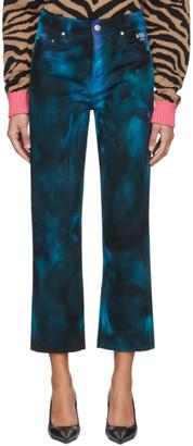 MSGM Navy Tie-Dye Jeans