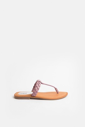 Coast Plaited Leather Sandal