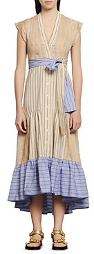 Sandro Roshanda Striped Midi Dress