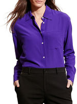 Lauren Ralph Lauren Long Sleeve Silk Shirt