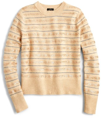J.Crew Sequin Stripe Supersoft Yarn Sweater