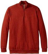 Dockers Big-Tall Quarter Zip Fleece Long Sleeve Knit Shirt