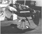 Photographic Archives Photo Man Sleeping In His Barber Chair c1940