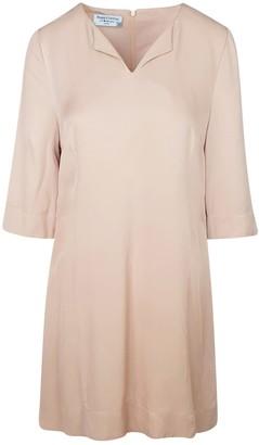 Haris Cotton Mini Viscose Flared Dress - Sand