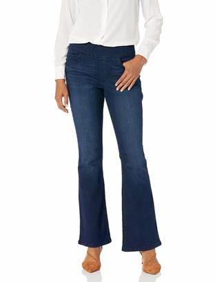 Bandolino Women's Misses Theadora Tummy Toner Pull On Flare Leg Jean