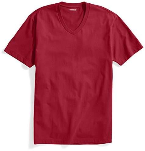 11c236499111 Mens Short Sleeve V Neck Red - ShopStyle