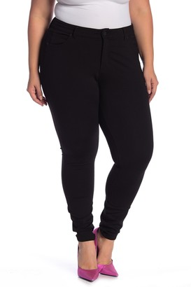 KUT from the Kloth Solid Ponte Knit Skinny Leg Pants (Plus Size)