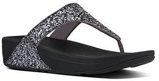 FitFlop Women's Sandals Pewter - Pewter Glitterball Nubuck Toe-Post Sandal - Women