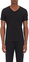 Barneys New York MEN'S JERSEY V-NECK T-SHIRT-BLACK SIZE XL