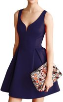 Bess Bridal Women's Vintage A Line Deep V Neck Short Retro Party Cocktail Dresses