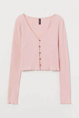 H&M Ribbed Jersey Cardigan