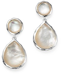 Ippolita Sterling Silver Rock Candy Snowman Post Earrings in Mother-of-Pearl