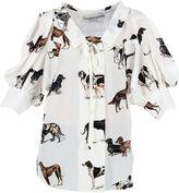 Stella McCartney White Dog Print Blouse