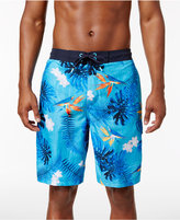 Speedo Swim Men's Paradise Floral Elastic Waist Board Shorts
