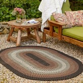 Busick Handmade Braided Black Indoor / Outdoor Area Rug World Menagerie Rug Size: Oval 2' x 3'