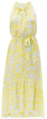 Heidi Klein Floral-print Silk-crepe Midi Dress - Yellow Print