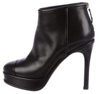 Chanel Leather Platform Booties