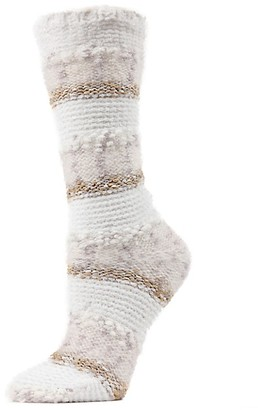 Me Moi Textured Multi-Yarn Crew Socks