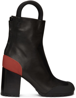 Random Identities Black and Red Worker Boots