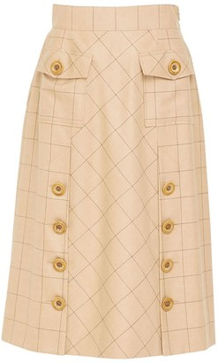 Doyi Park Big Button Pocket Skirt Lb