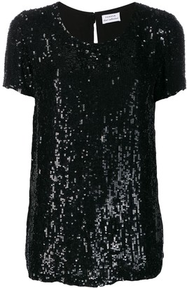 P.A.R.O.S.H. longline sequinned T-shirt