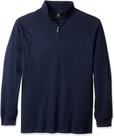 Dockers Big-Tall Pique 1/4 Zip Long Sleeve Cotton Shirt