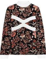 J.W.Anderson Floral Intarsia-Knit Turtleneck Sweater